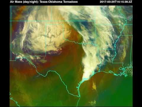 Harris Corporation:  GOES-16 imagery of  Texas-Oklahoma storms