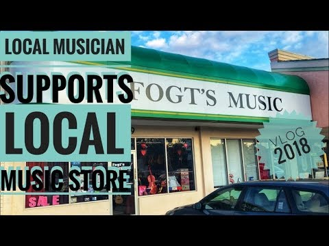 Local Musician Supports Local Music Store / Vlog (2018)