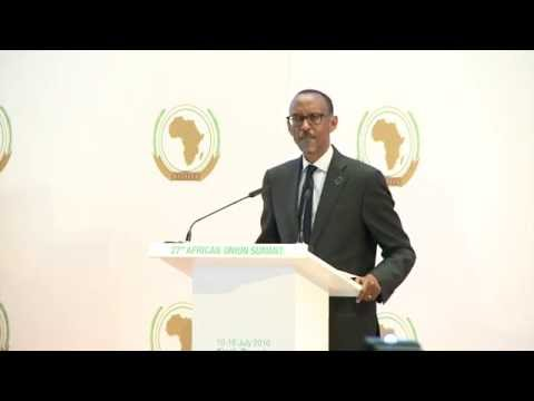 President speaks at the opening of 27th African Union Summit | Kigali, 17 July 2016