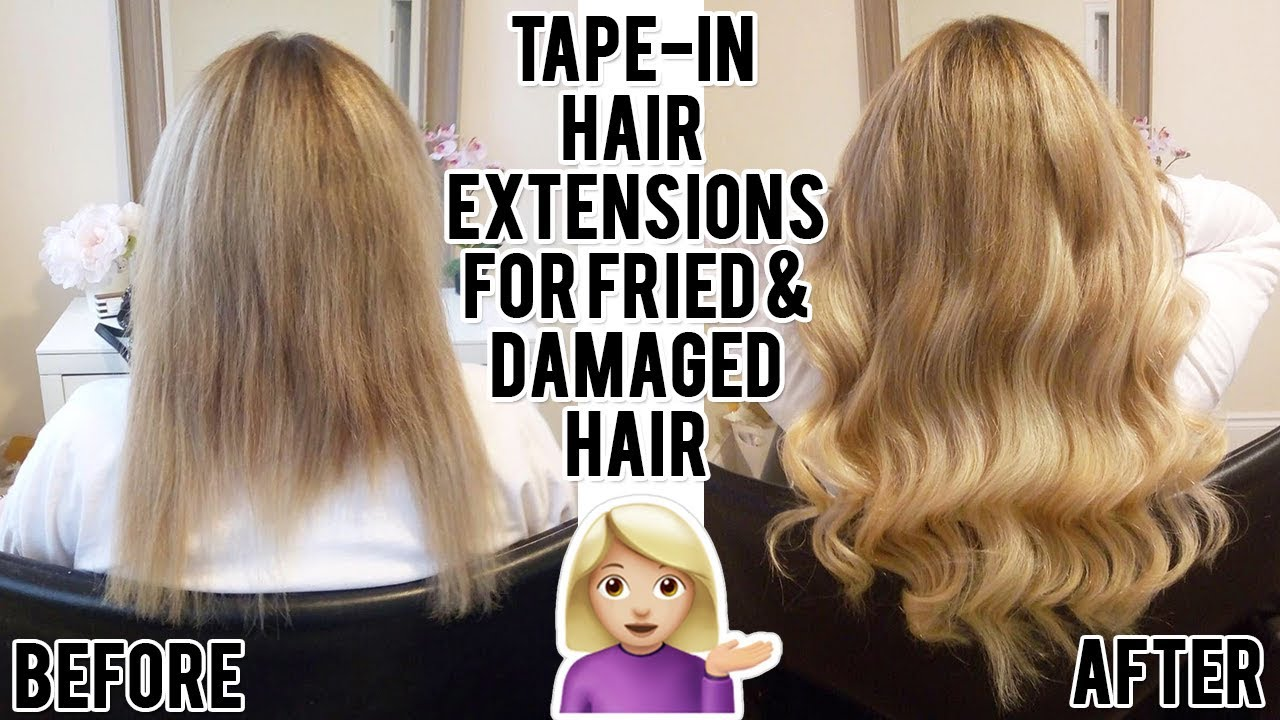 Tape in extensions ruined my hair