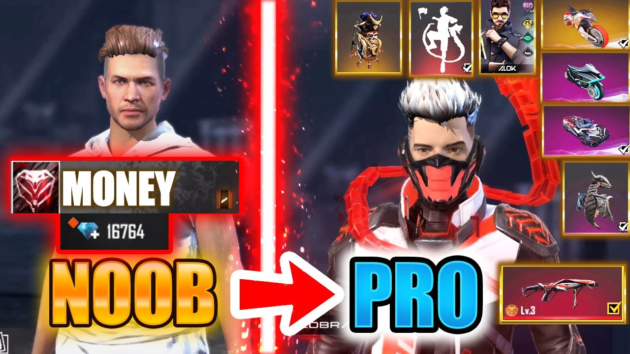 Free Fire new account to *PRO* 16k diamonds - look how it became😱🔥