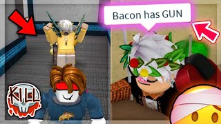 TOXIC MM2 Teamers BULLY BACON THEN GET SCARED.. 😈😂    Roblox Murder Mystery 2 Funny Moments
