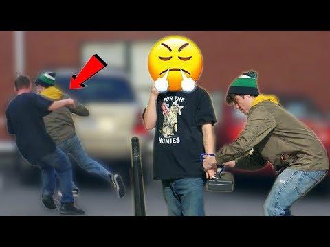 Handcuffing People to Lock Box Prank!   RebelTV