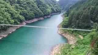 秩父湖吊り橋 ドローン空撮