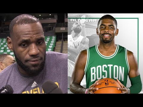 LeBron James RESPONDS to Kyrie Irving-Isaiah Thomas Trade