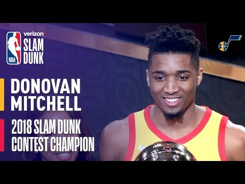 Donovan Mitchell Wins 2018 Verizon Slam Dunk Contest