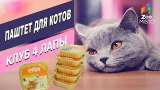 Клуб 4 лапы паштет для котов | Обзор паштета для котов | Review of pate for cats