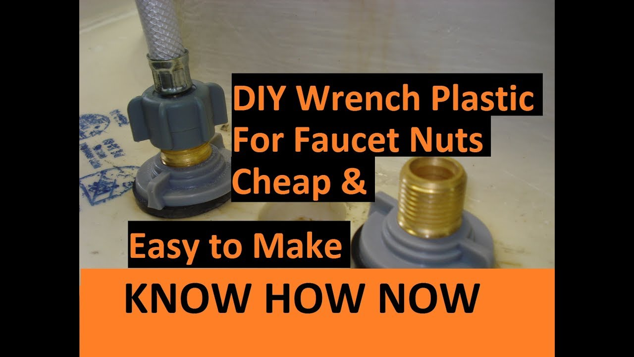 Diy Basin Wrench For Plastic Faucet Nuts Youtube