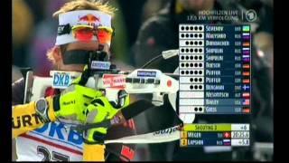 Biathlon Verfolgung der Männer in Hochfilzen 2011