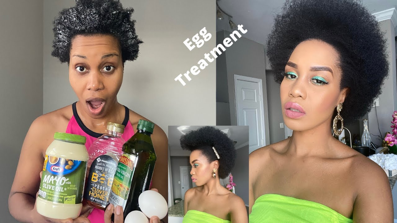 Diy Egg Mayo Honey Olive Oil Hair Treatment For Deep Conditioning Growth Natural Hair Youtube