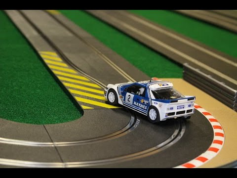 Scalextric Ford RS200 Rally Car Drifting