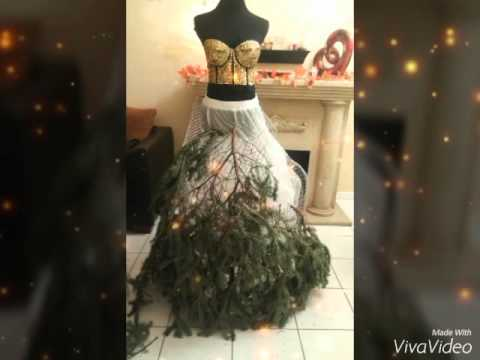 how to make a mannequin christmas tree