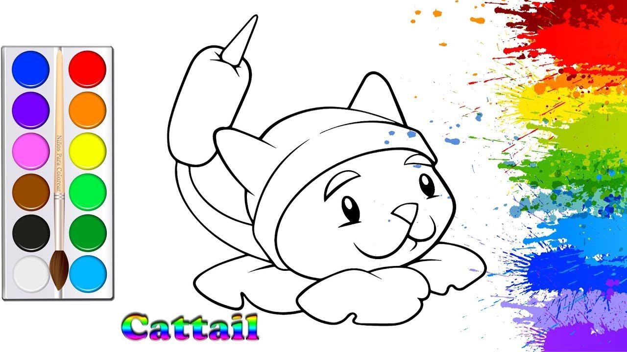 Colorear Gato Juego De Plantas Y Zombies Pintar Para Niños Pequeños Y Dibujar Para Niños Youtube