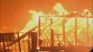 Schools closed after massive fire at Elmwood Park paper plant