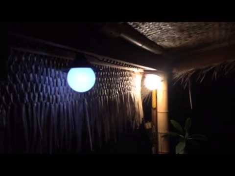 Tiki hut lighting & Tiki hut lighting - YouTube
