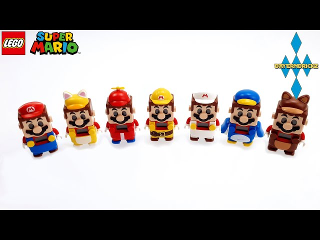 Lego Super Mario - All 7 Suits / Alle 7 Anzüge