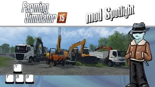 Farming Simulator 15 Mod Spotlight - Construction Equipment