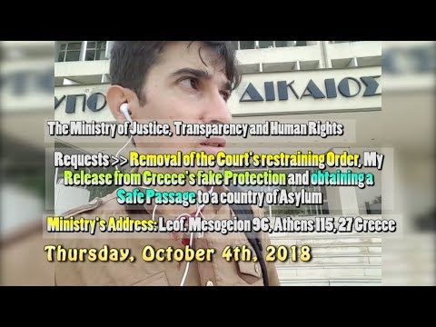Hostage of Europe - ''My visit to the Ministry of Justice and Human Rights - October 4th, 2018''