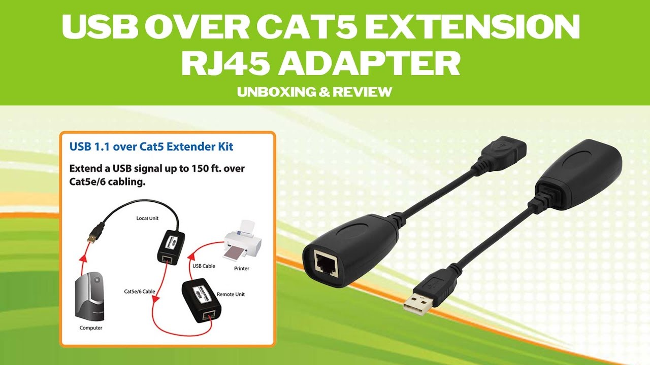 Usb over cat5 extension rj45 adapter unboxing review youtube usb over cat5 extension rj45 adapter unboxing review sciox Image collections