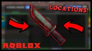 HOW TO GET THE ZOMBIE BLADE KNIFE IN ROBLOX ASSASSIN [ ITEM LOCATIONS ]