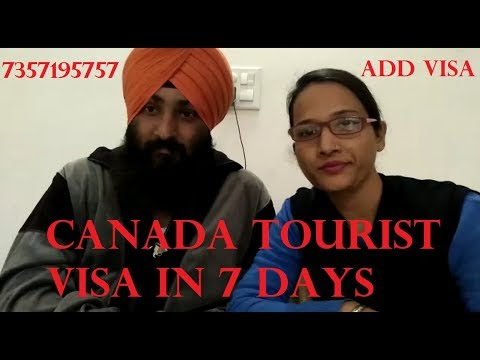 Canada tourist visa from india in 7 days (new record).