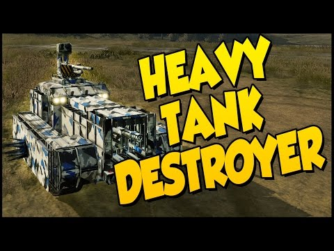 Crossout ➤ Heavy Tank Destroyer Build - 100mm & 76mm [Crossout Gameplay]