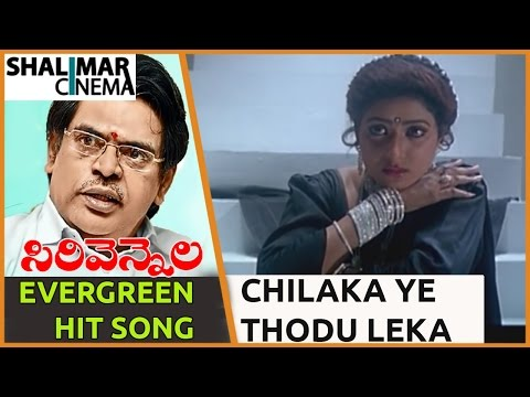 Sirivennela Sitarama Sastry Evergreen Hit Song ||Subhalagnam Movie||Chilaka Ye ThoduLeka Video Song