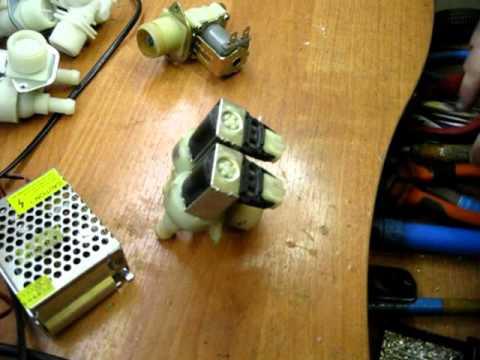 Разборка клапана стиральной машины