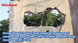COVID-19 relief supplies inside government warehouses in nigeria have been left to rot - Young man