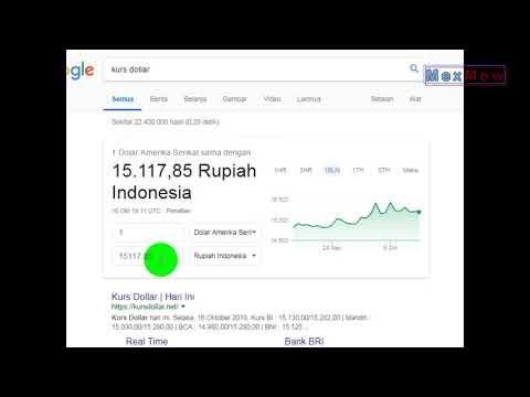 Cara Menghitung Kurs Dolar Terhadap Rupiah - Konversi USD Ke IDR