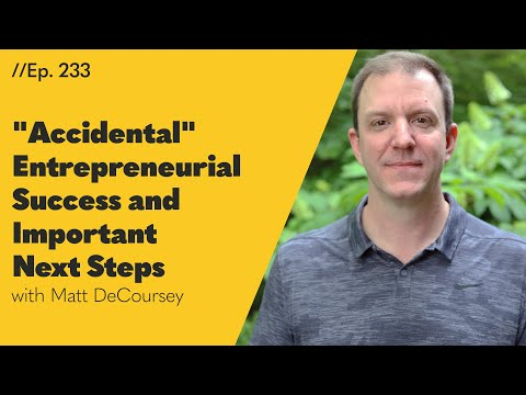 """Accidental"" Entrepreneurial Success and Important Next Steps - 233"