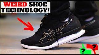WEIRD SHOE TECHNOLOGY! ASICS GLIDERIDE REVIEW (CASUAL)