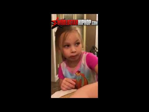 Little White Girl Says She Wants To Be A Black Woman And A Rapper When She Grows Up!