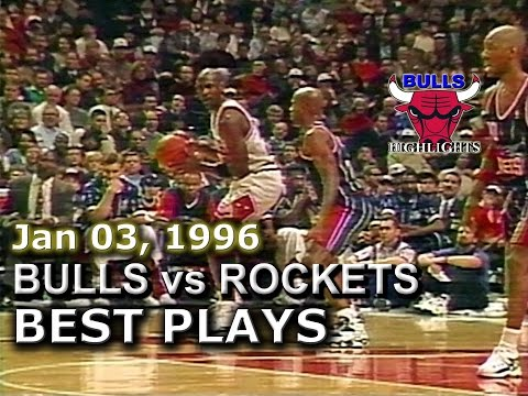Jan 03 1996 Bulls vs Rockets highlights
