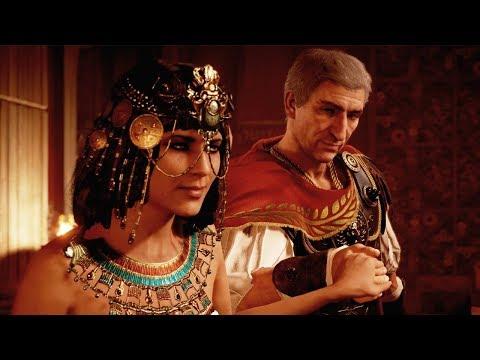 Assassin&39;s Creed Origins Julius Caesar and Cleopatra Scenes - AC Origins Julius Caesar Death