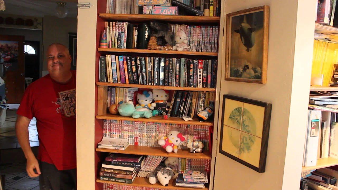 Hidden Room Behind The Bookshelf