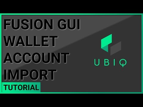 Account Import - Fusion GUI Wallet | Windows