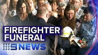 RFS farewells volunteer firefighter Samuel McPaul | Nine News Australia