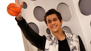 Austin Mahone Plays Basketball & Talks Kissing at ClevverTV Studio