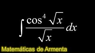 integral de potencias de senos  cosenos ejemplo 10