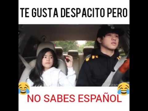 Remix despacito  niña no sabe español e imita a Justin