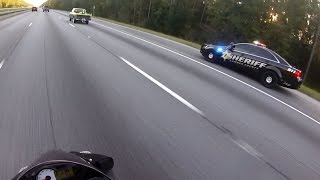 Motorcycle Police Chases Compilation #12 - FNF