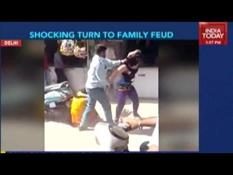 Shocking Images: Man Beats Up Wife, Mother-In-Law In Tilaknagar, Delhi