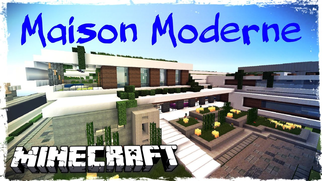 minecraft grande maison moderne modern house youtube. Black Bedroom Furniture Sets. Home Design Ideas