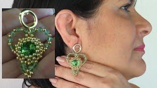 Brinco de Luxo Coração de Esmeralda – Maguida Silva