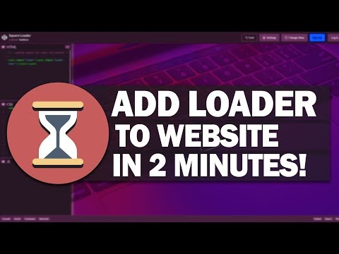 How To Add Loading Animation To Website In 2 Minutes!