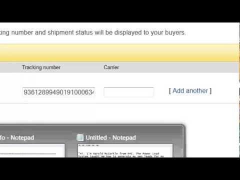 Learn How To Mark Your Item As Shiped & Ad A Tracking Number On eBay