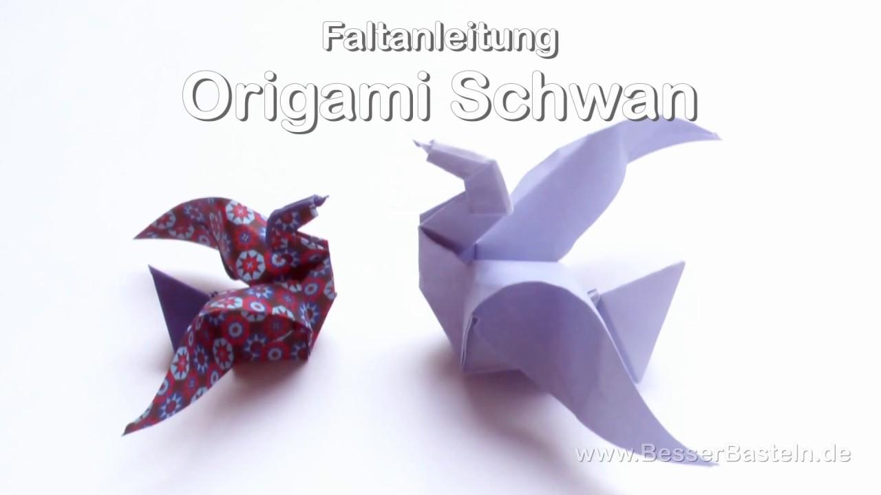 Origami Tiere Falten 7 Schwan Swan