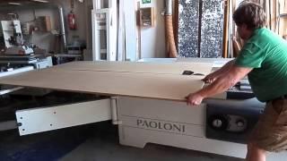 WOODMAN: Cutting a sheet of MDF on your own at panel saw / Раскраивание плиты в одиночку на форматке