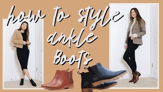 HOW TO STYLE ANKLE BOOTS FOR FALL // by Chloe Wen